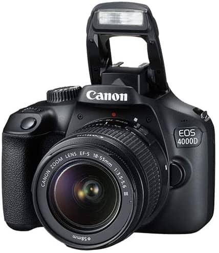 Canon EOS 4000D / Rebel T100 Digital SLR Camera Body w/Canon EF-S 18-55mm f/3.5-5.6 Lens 3 Lens DSLR Kit