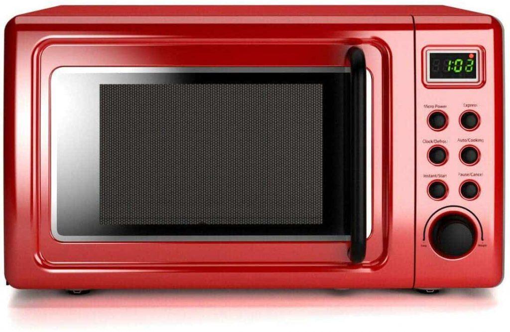 COSTWAY Retro Countertop Microwave Oven