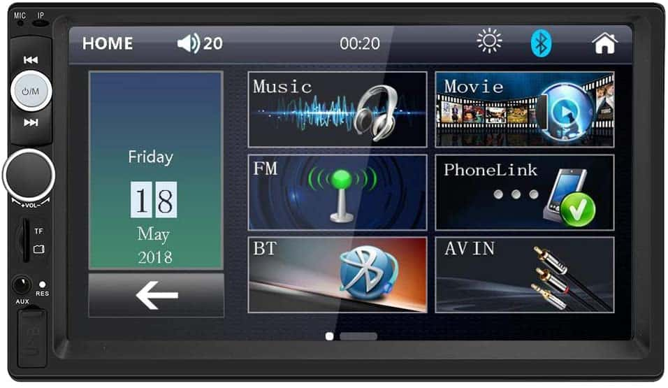 Double Din Car Stereo in Dash, FM Receiver with Remote