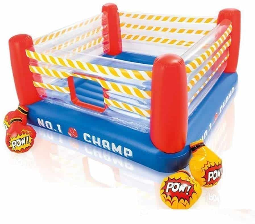 Inflatable Bouncy Castle Children's Boxing Ring Jumping Le Trampoline Inflatable Playground for Kids with Water Slide, Pool and Climbing Wall