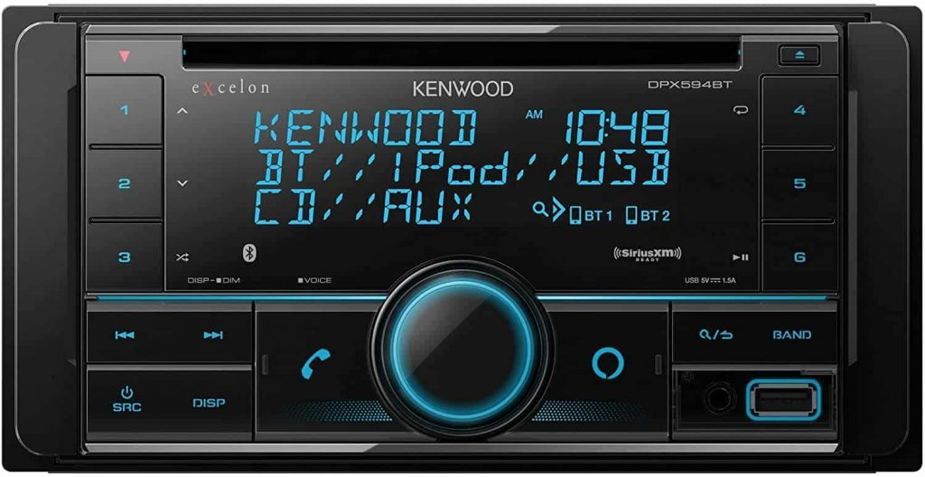 Kenwood Excelon DPX594BT Double DIN Bluetooth In-Dash Car Stereo