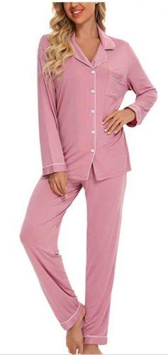 Samring Women's Button Down Pajama Set