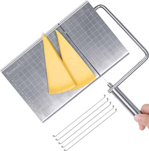 Cheese Slicer Wire,Stainless Steel Cheese Cutter with Accurate Size Scale,Wire Cheese Slicer