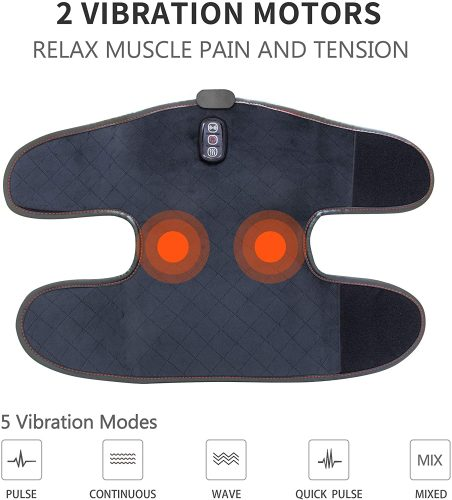 ComfIer Heated Knee Brace Wrap with Massage,Vibration Knee Massager with Heating Pad for Knee Fatigue ,Leg Massager,Heated Knee Pad