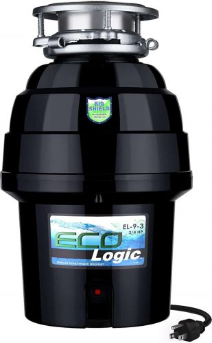 Eco Logic 10-US-EL-9-3B Garbage Disposal with Removeable Splash Guard
