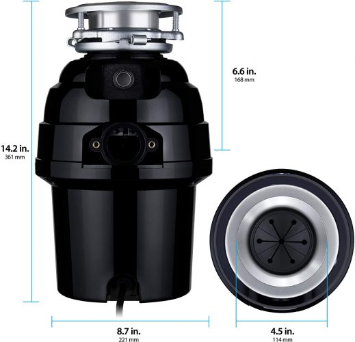 Eco Logic 10-US-EL-9-3B best Garbage Disposal with Removeable Splash Guard