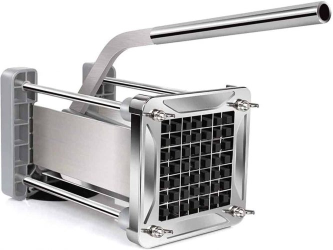 French Fry Cutter, Sopito Professional Potato Cutter Stainless Steel with 1:2-Inch Blade Great for Potatoes Carrots Cucumbers
