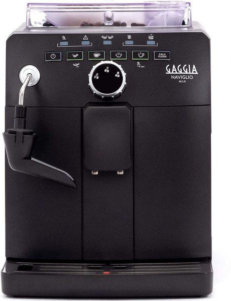 Gaggia Naviglio Milk One-Touch Cappuccino and Espresso Machine, Black, 17.3