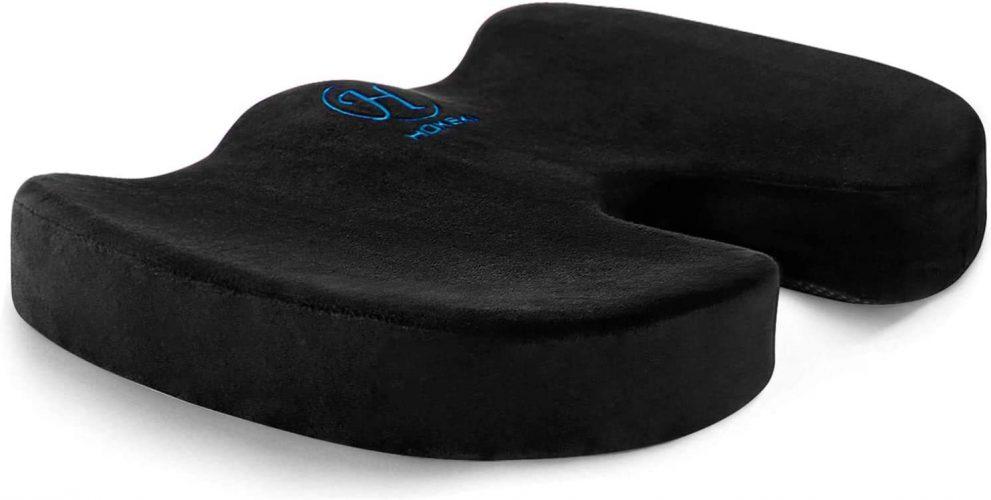 HOKEKI Seat Cushion Memory Foam Coccyx Cushion Designed for Back, Hip, and Tailbone Pain - for Office Chair,Car Seat, Wheelchair