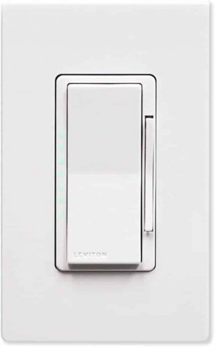 Leviton DZ6HD-1BZ Decora Smart 600W Dimmer with Z-Wave Technology, Ivory, 1-Pack, White:Light Almond