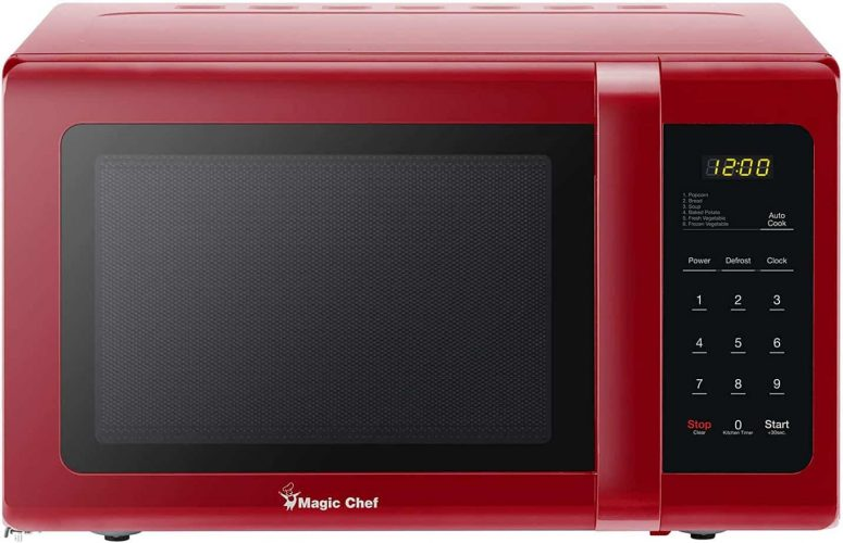 Magic Chef MCD993R 0.9 Cubic-ft Countertop Red Microwave