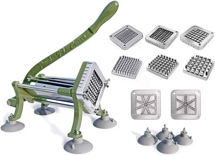 New Star Foodservice 38408 Commercial Grade French Fry Cutter, Complete Combo Sets
