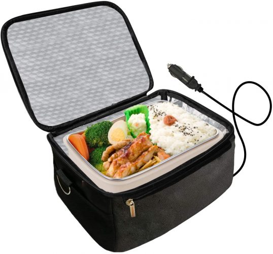 Portable Oven 12V Personal Food Warmer,Car Heating Lunch Box,Electric Slow Cooker