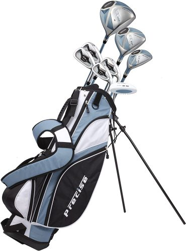 Precise NX460 Ladies Womens Complete Golf Clubs Set Includes Driver, Fairway, Hybrid, 4 Irons, Putter, Bag, 3 H:C's - 2 Sizes - Regular and Petite Size!