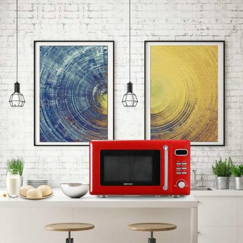 ROVSUN 0.7 Cu.ft Retro Countertop Red Microwave