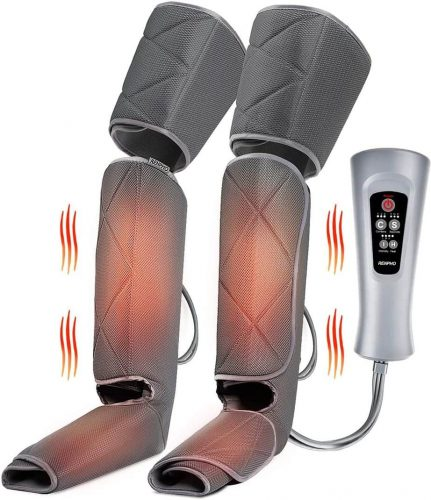 Renpho Leg Massager with Heat, Compression Calf Thigh Foot Massage, Adjustable Wraps Design for Most Size, with 6 Modes 3 Intensities, Gifts for Mom Dad to Relax Leg Muscle