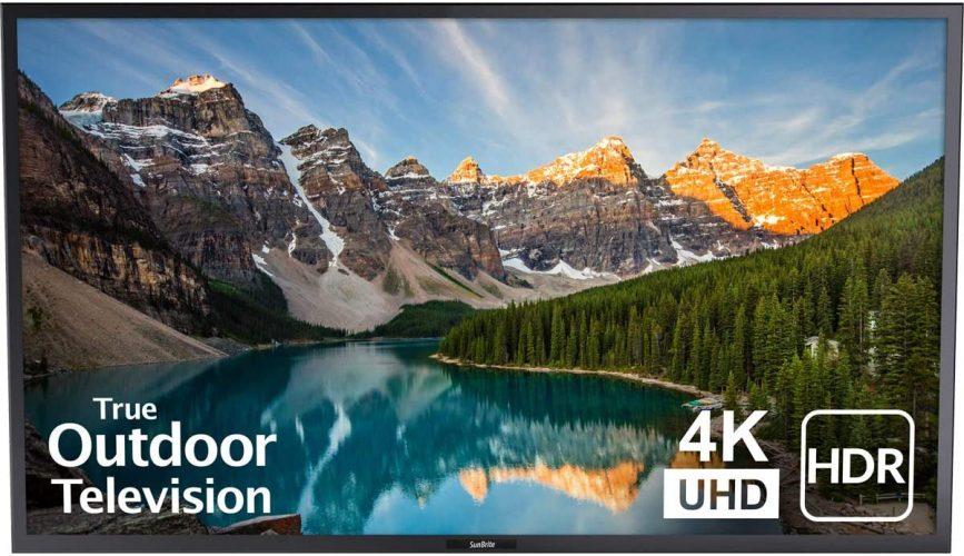 SunBrite bathroom TV Weatherproof Outdoor 55-Inch Veranda