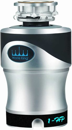 Waste King Knight A1SPC Garbage Disposal with Power Cord, 1 HP with Exclusive Silencer Technology