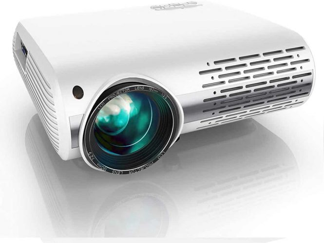 YABER Y30 Native 1080P Projector 7500L Full HD Video Projector 1920 x 1080, ±50° 4D Keystone Correction Support 4k & Zoom,LCD LED Home Theater Projector Compatible with Phone,PC,TV Box,PS4